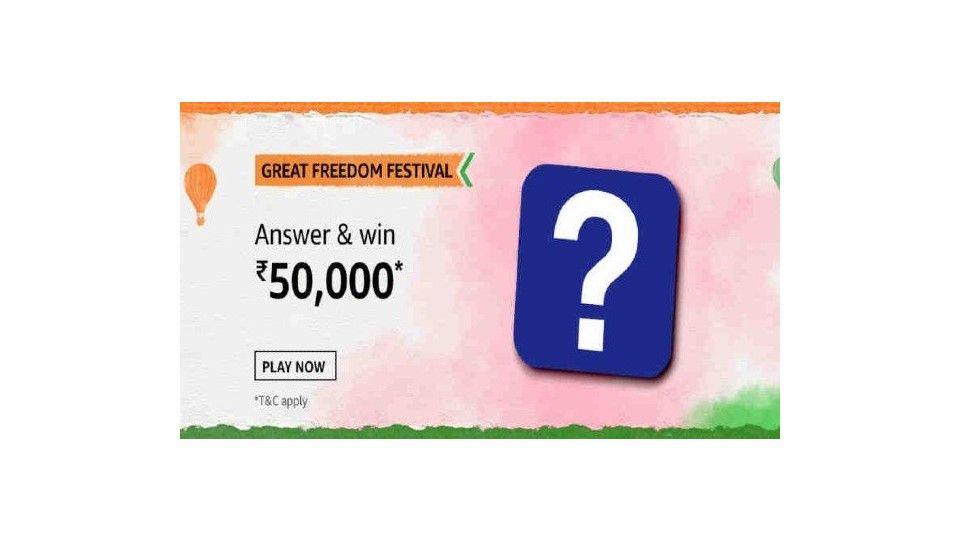 Amazon Great Freedom Festival Quiz contest
