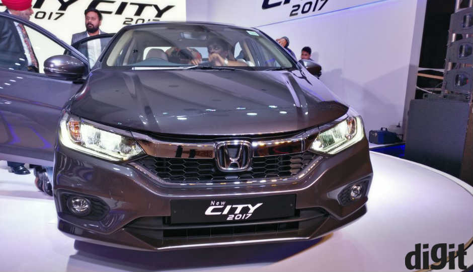 Honda City 2017 Launched In India, Ex Showroom Prices Start At Rs. 8,49,990  | Digit.in