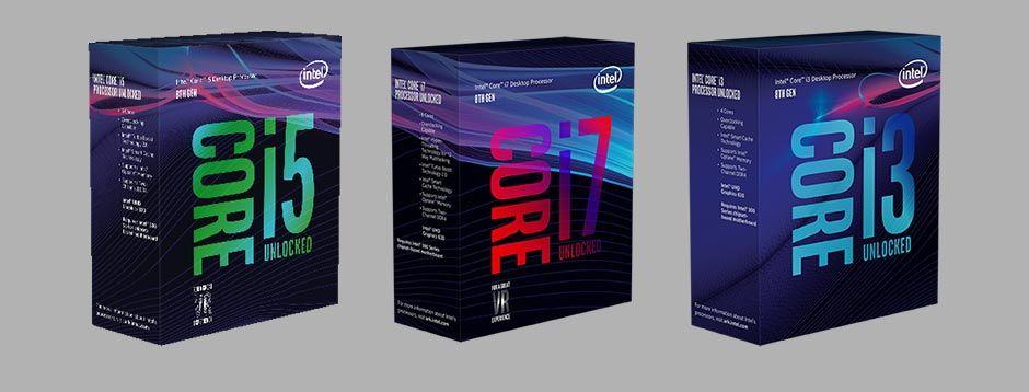 Intel Coffee Lake i3 i5 i7