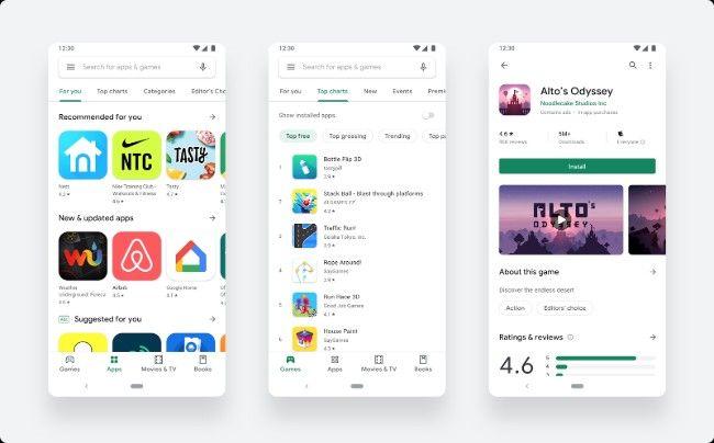 Google Play Store Redesign parkyprakhar