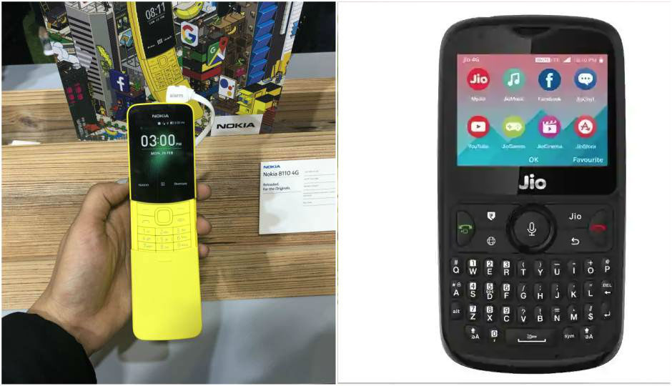 Nokia 8110 4g Vs Jiophone 2 Here S How The Smart Feature