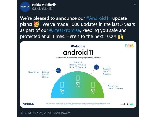 Deleted tweet by Nokia Mobile (Source- Neowin)