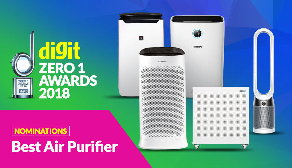 digit zero1 awards 2018 nominations best air purifier. Black Bedroom Furniture Sets. Home Design Ideas