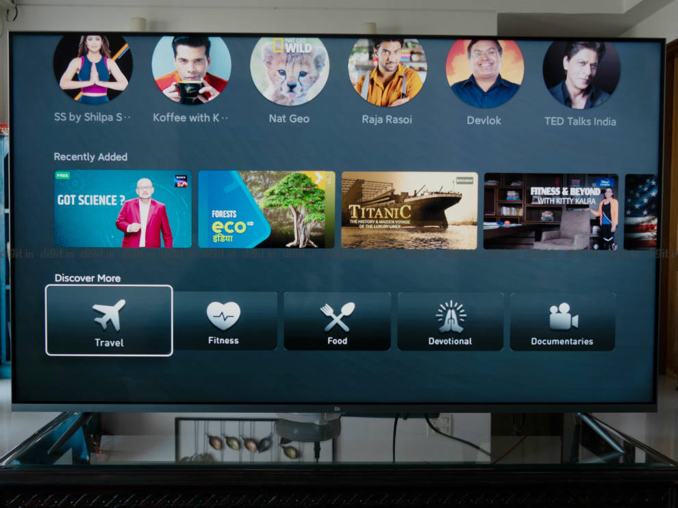 The Mi QLED TV gives you the option of PatchWall UI or the Android TV UI.