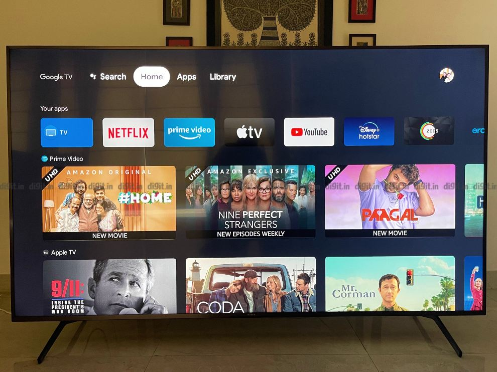 The Sony X85J runs on the Google TV UI.