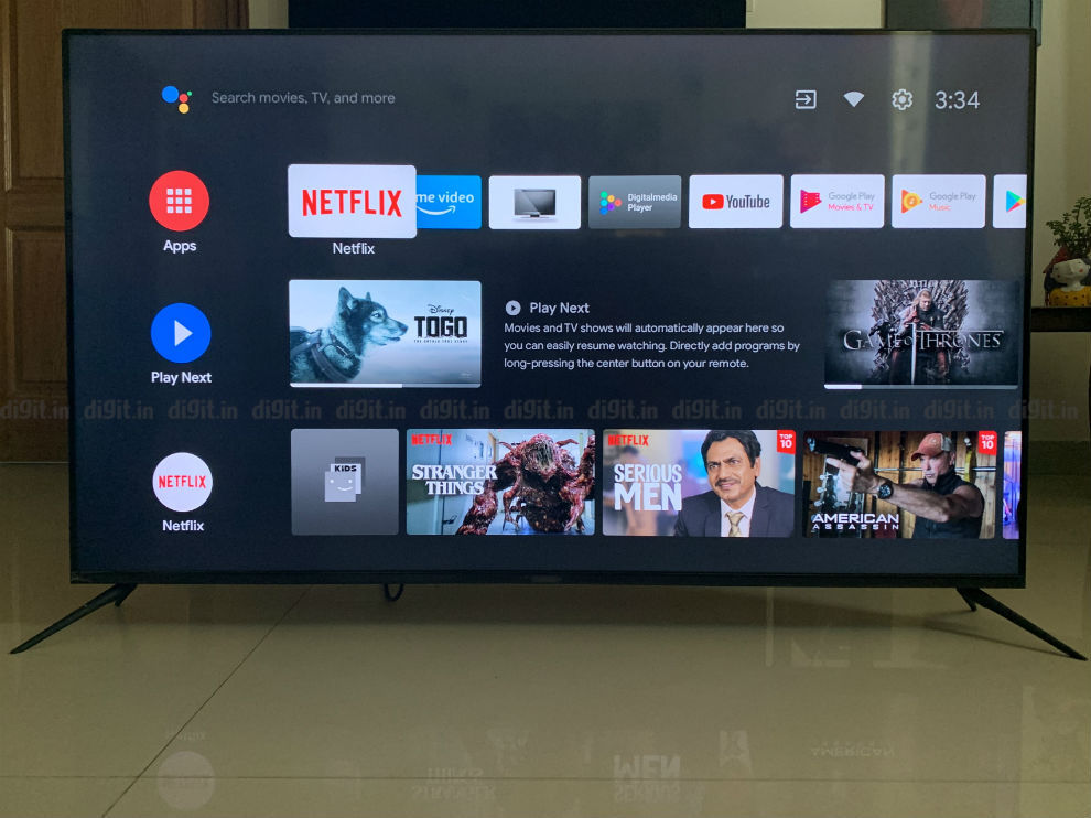 The Realme SLED TV runs on Android TV.