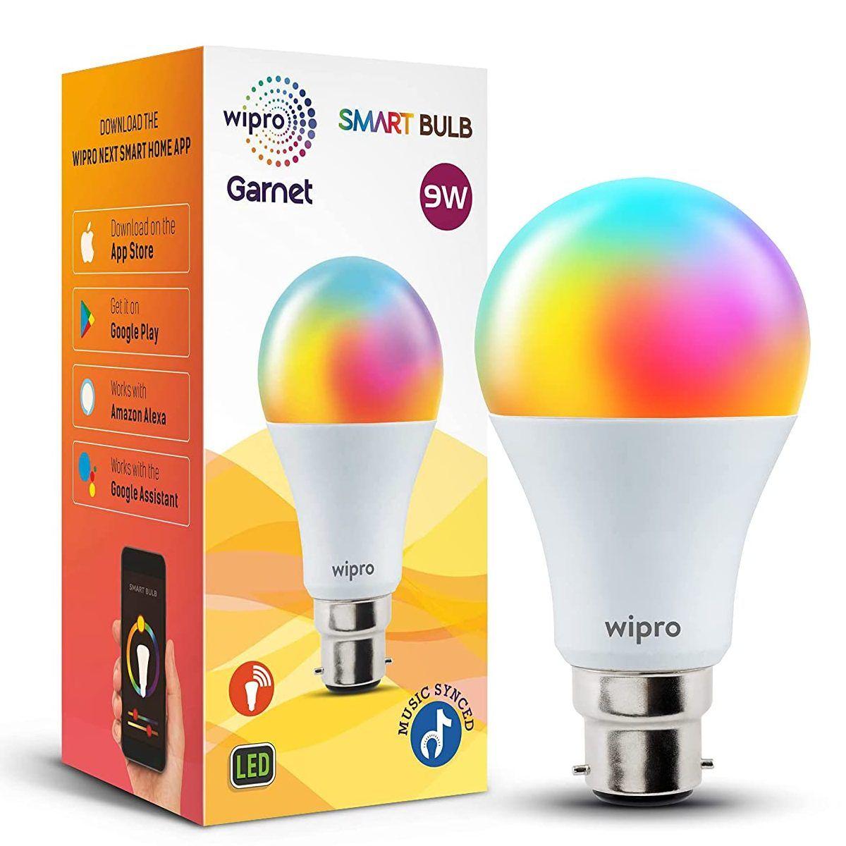wipro 9-Watt B22 WiFi Smart LED Bulb