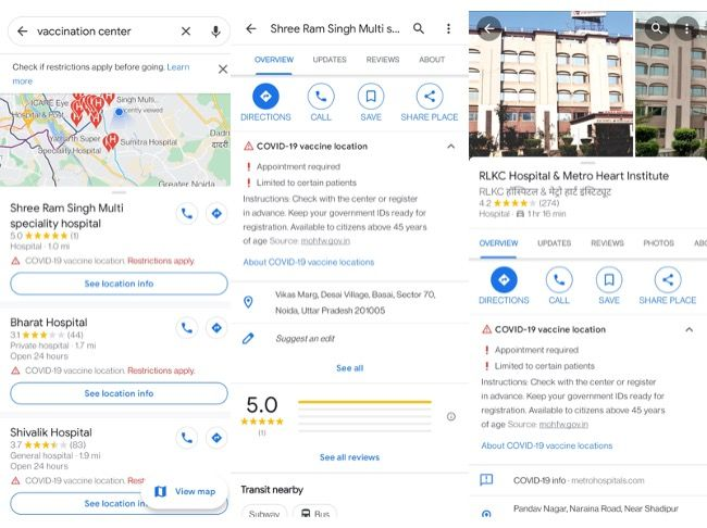 Google has announced that it is making it easier for the general public to find the COVID-19 vaccination centres in India