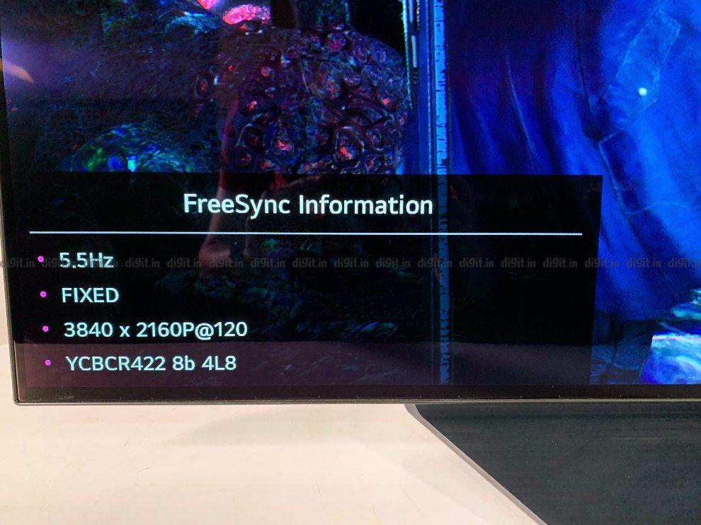 LG CX 4K में 120Hz पर गेम खेल सकता है।