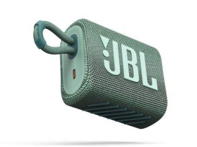 The JBL Go 3 has a compact form factor.