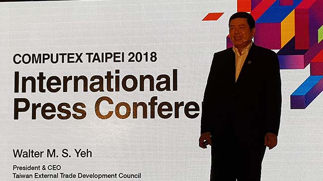 Mr. Walter Yeh, CEO & President TAITRA computex 2018