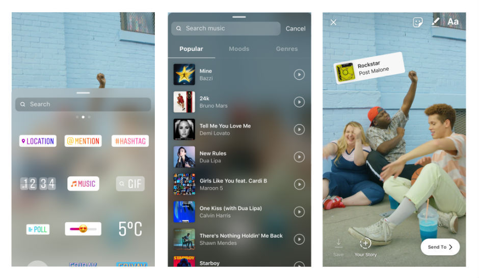 You can now add soundtracks to your Instagram Stories via Music Sticker