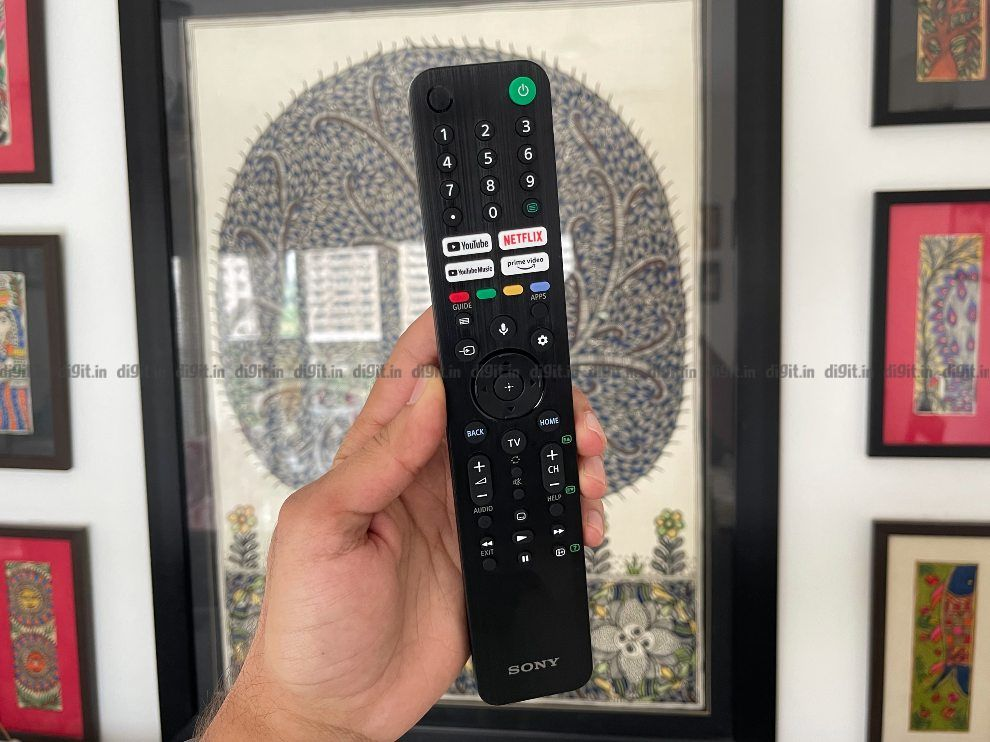 The Sony X80J comes with a compact remote control.