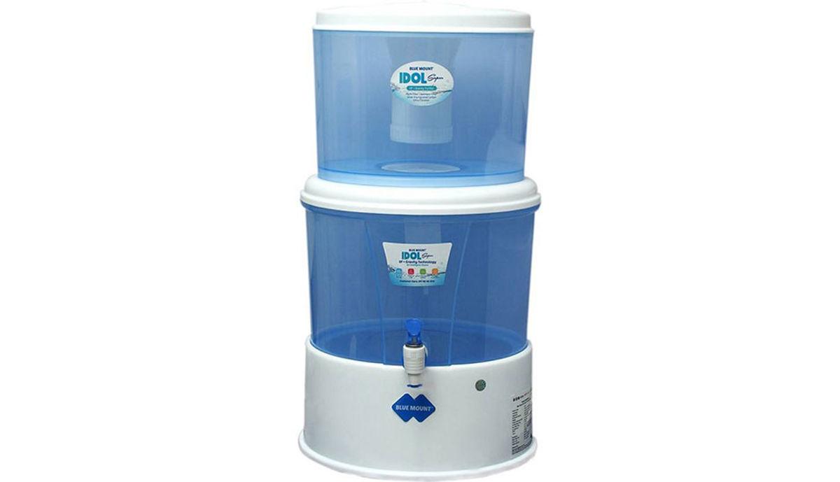 Blue Mount BA11 Idol Super 10.8 Gravity Based, UF Water Purifier (Blue & White)