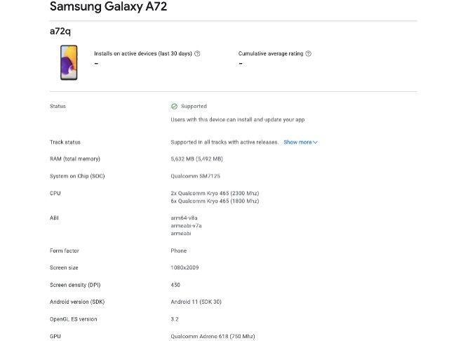 Galaxy A72 could feature 90Hz refresh rate display with 64MP quad cameras