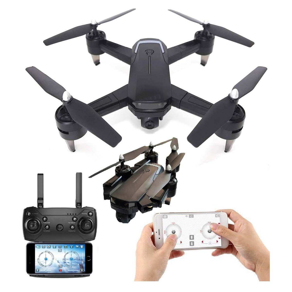 SUPER TOY Gesture Dual Camera Foldable Drone