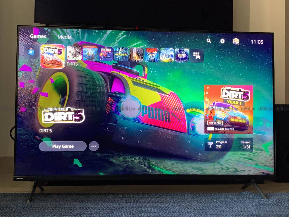 The Philips TV has average performance for gaming.