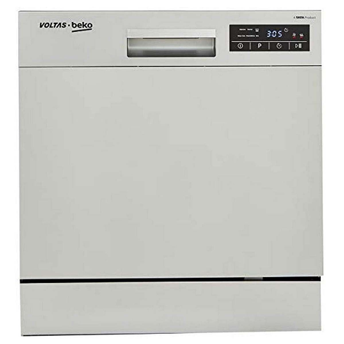 Voltas Beko 8 Place Table மேலே Dishwasher (DT8S, Silver)