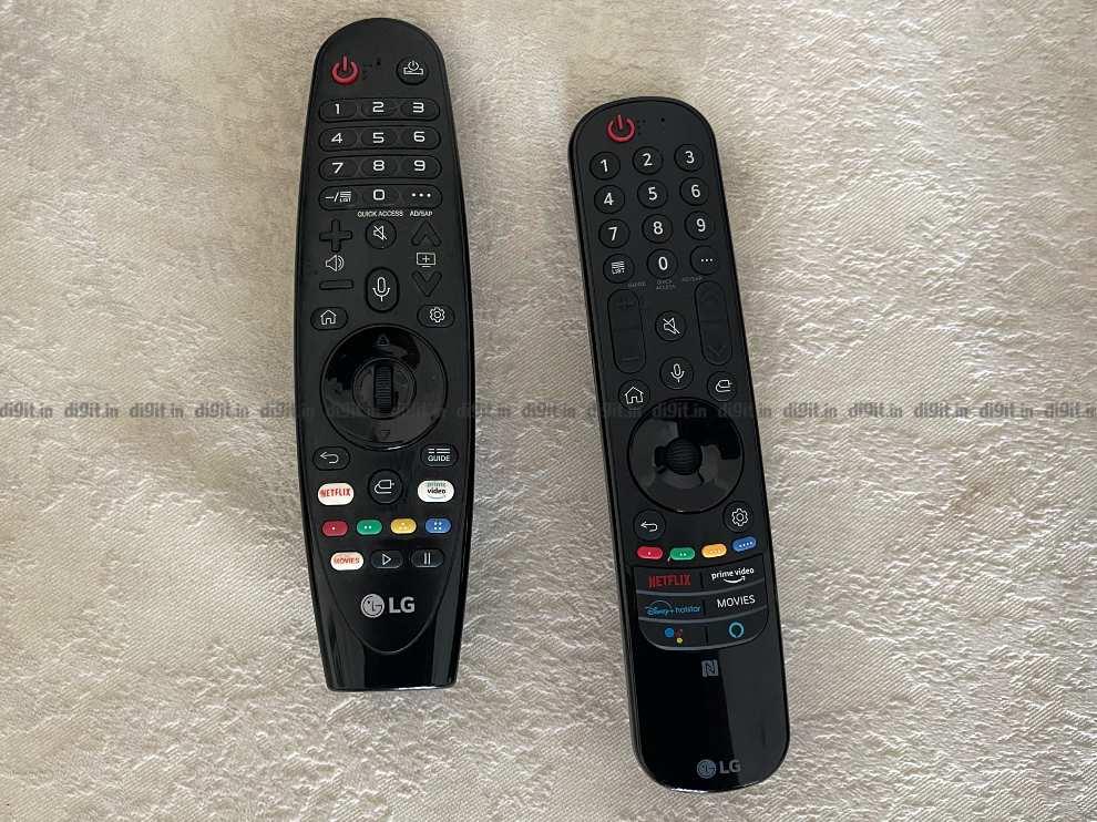 LG C1 remote control compared to predecessor.