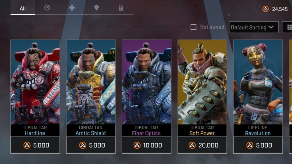Apex Legends Mobile in-game store