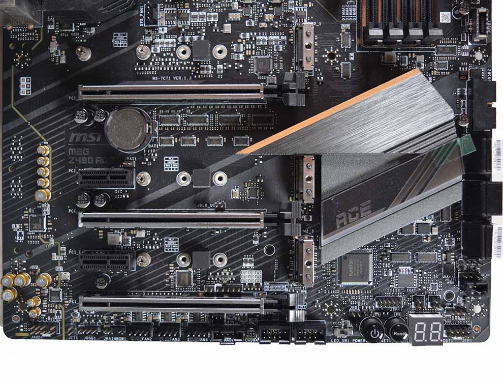 MSI MEG Z490 Ace Intel Comet Lake Motherboard Expansion slots