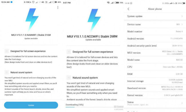 Xiaomi Redmi 4/4A now receiving MIUI 10 update based on Android 7 1