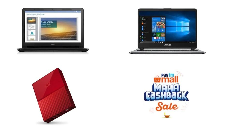 Paytm Mall Maha Cashback Sale Deals On Laptops And Storage Devices