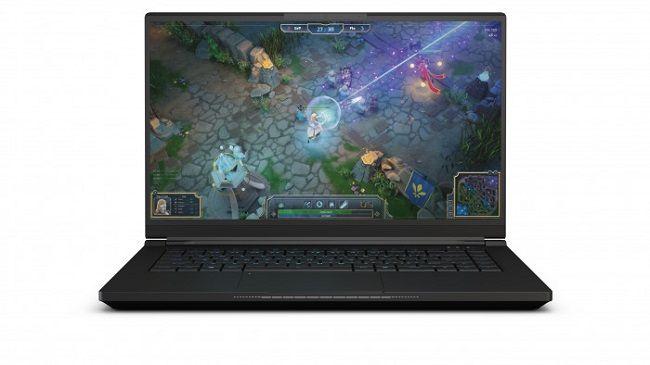 Intel NUC X15 reference kit laptop front