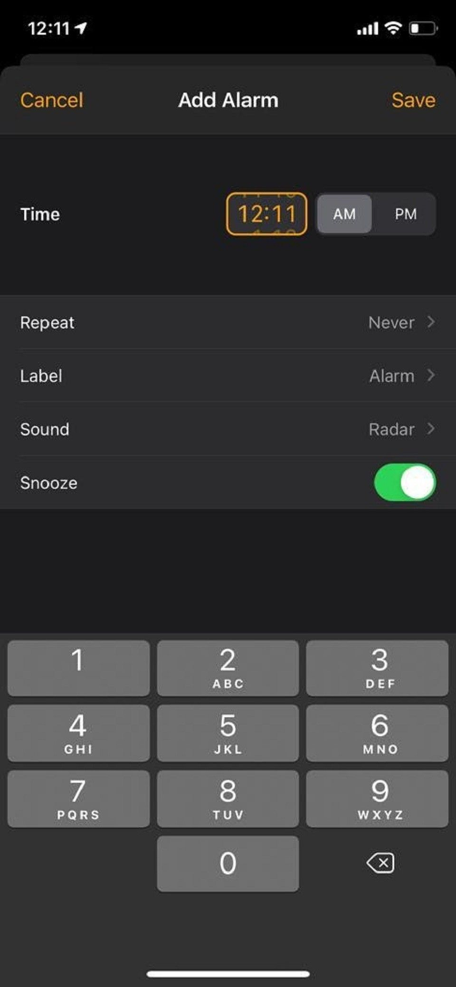 iOS Key Features Adding Alarm