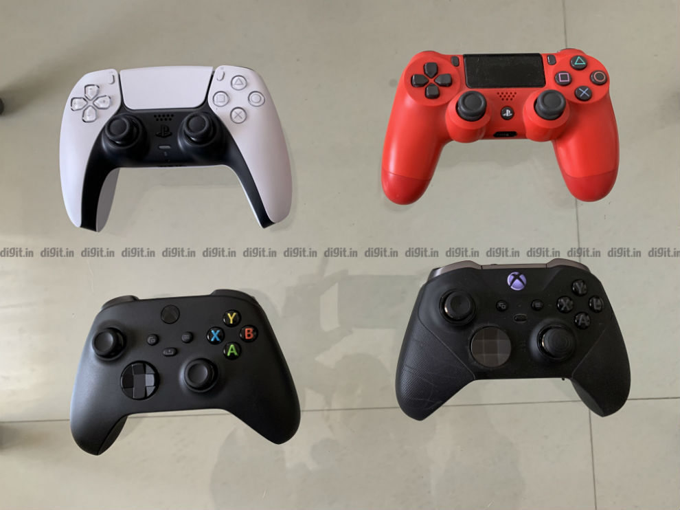 PS4, PS5 and Xbox Series X controller