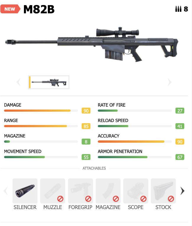 Garena Free Fire's M82B sniper rifle can penetrate Gloo Walls