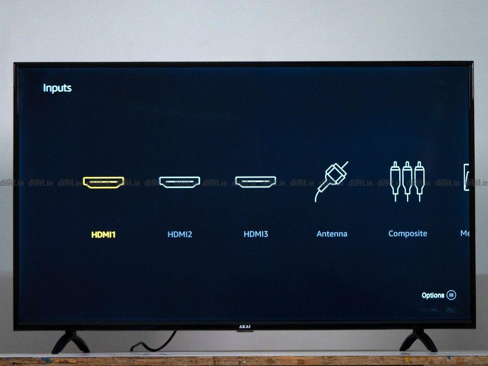 The Akia TV has 3 HDMI ports and 1 USB port.