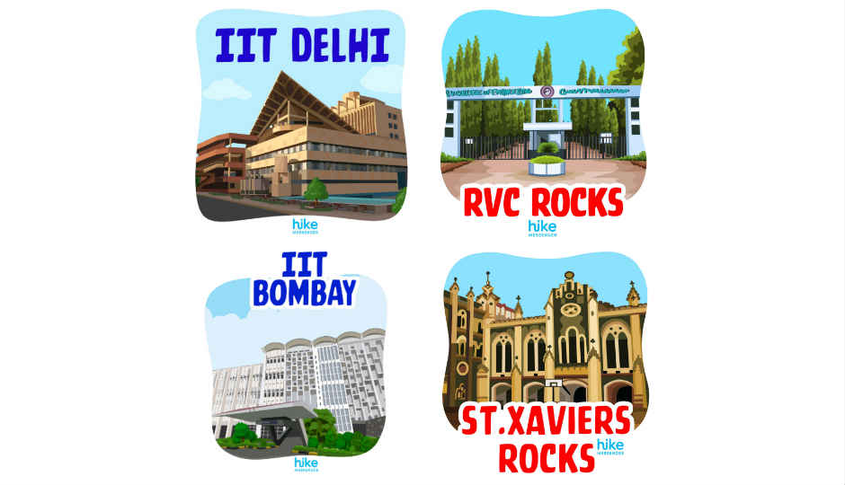 Hike launches personalized sticker packs for over 500 colleges a