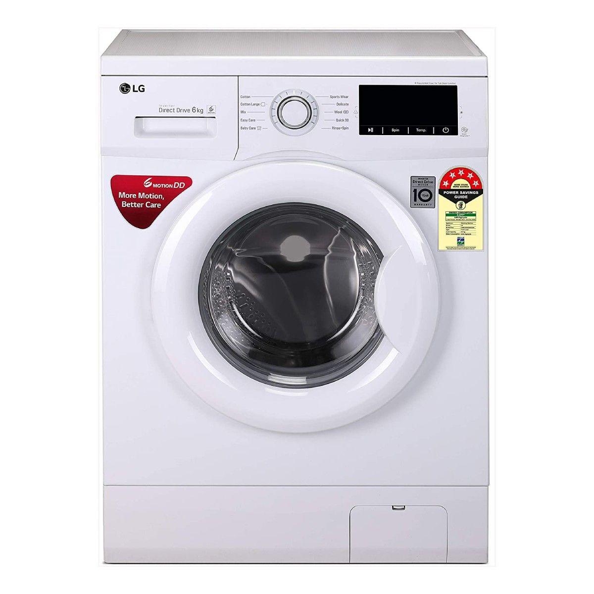 LG 6 kg Inverter Fully-Automatic Front Loading Washing Machine (FHM1006ADW)
