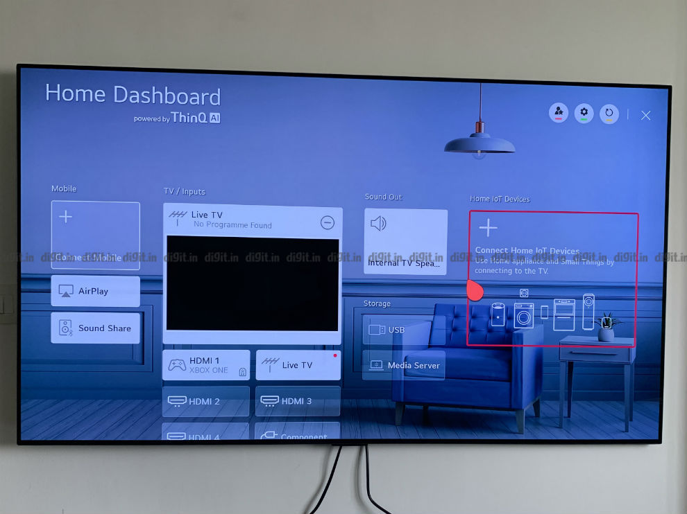 You can control smart home gadgets using the LG GX.