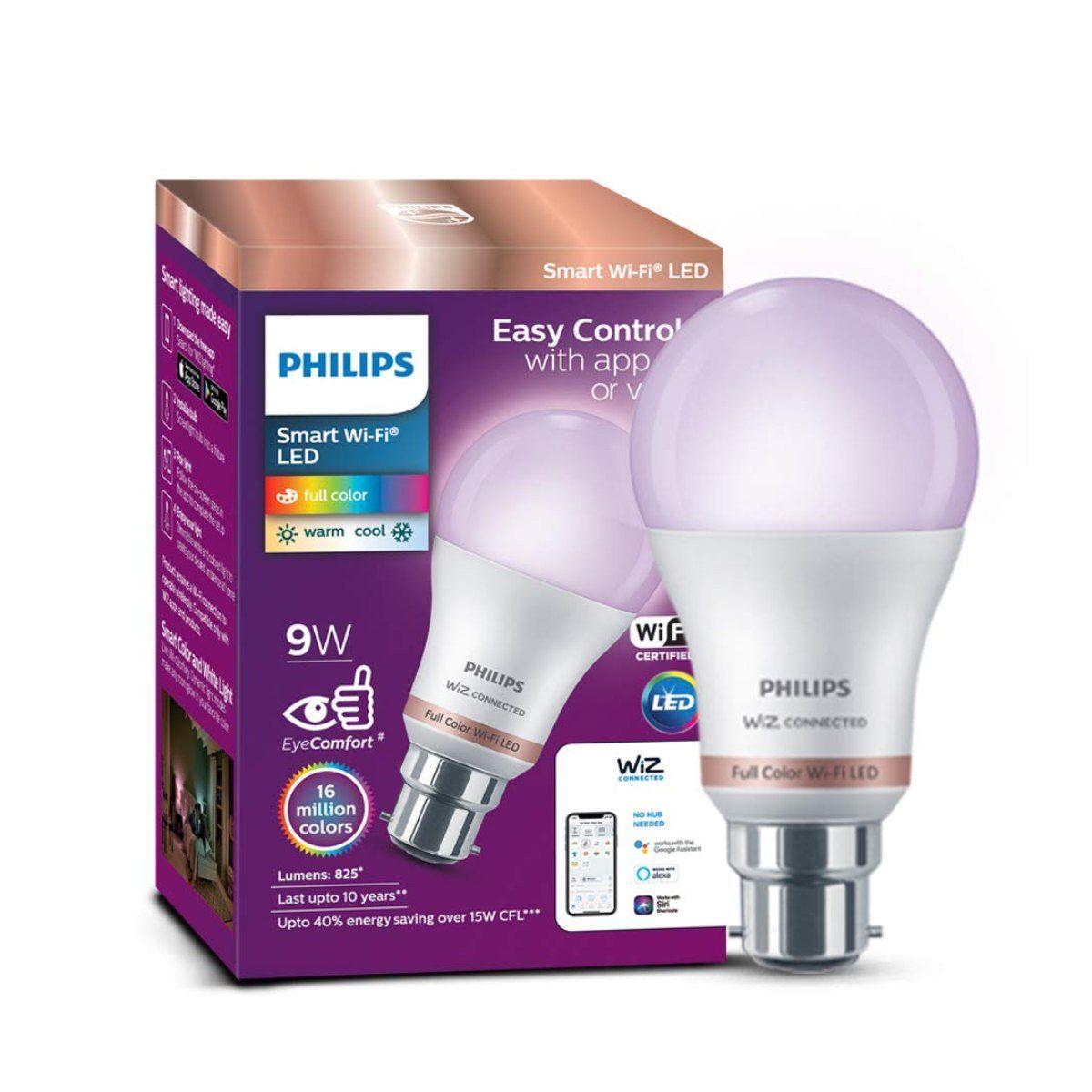 Philips Wiz Smart Wi-Fi LED Bulb B22