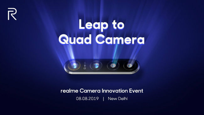 Realme to launch 64MP Quad Camera smartphone around Diwali