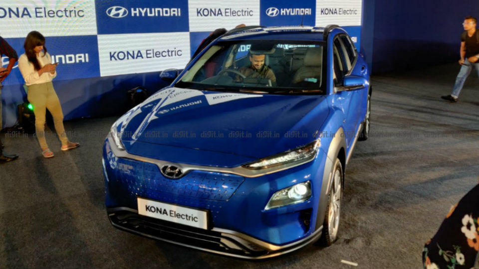 Price of kona electric car in india