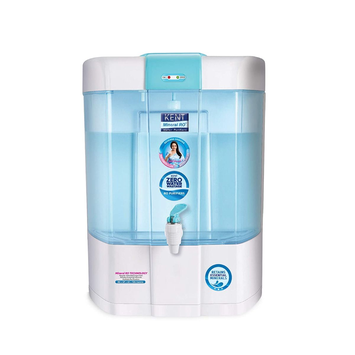 Kent PEARL(11002) 8 L RO + UV +UF Water Purifier (blue and white)