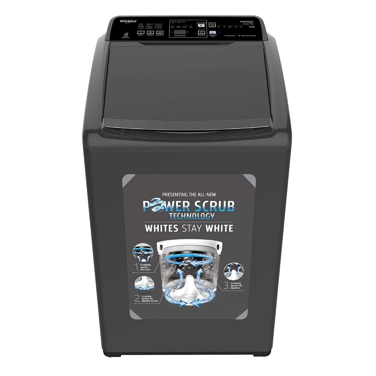 Whirlpool 7 kg Fully-Automatic Top Loading Washing Machine (WM Royal Plus 7.0 5YMW)