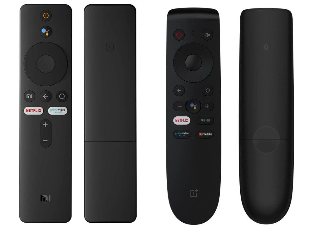 The Mi TV and OnePlus TV remote control.