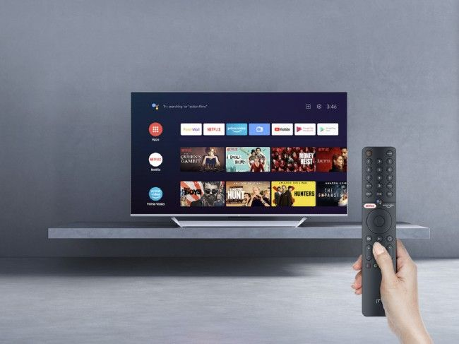 The Mi QLED TV comes with a remote control with hotkeys for Netflix and Prime Video.