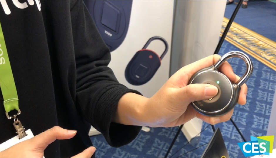Byte Size Tech from CES 2018: Tapplock, the smart padlock that unlocks using your fingerprint and a companion app