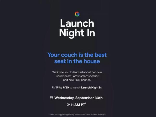 Google Pixel 5 launch event announced