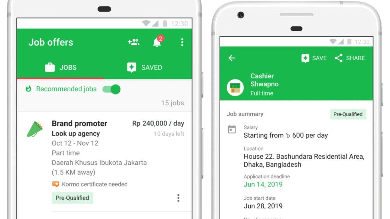 Google Kormo App for job seekers