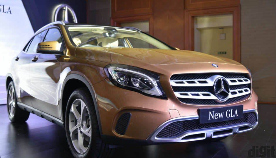 First look new mercedes benz gla 200d 220d 4matic suvs for Mercedes benz gla india