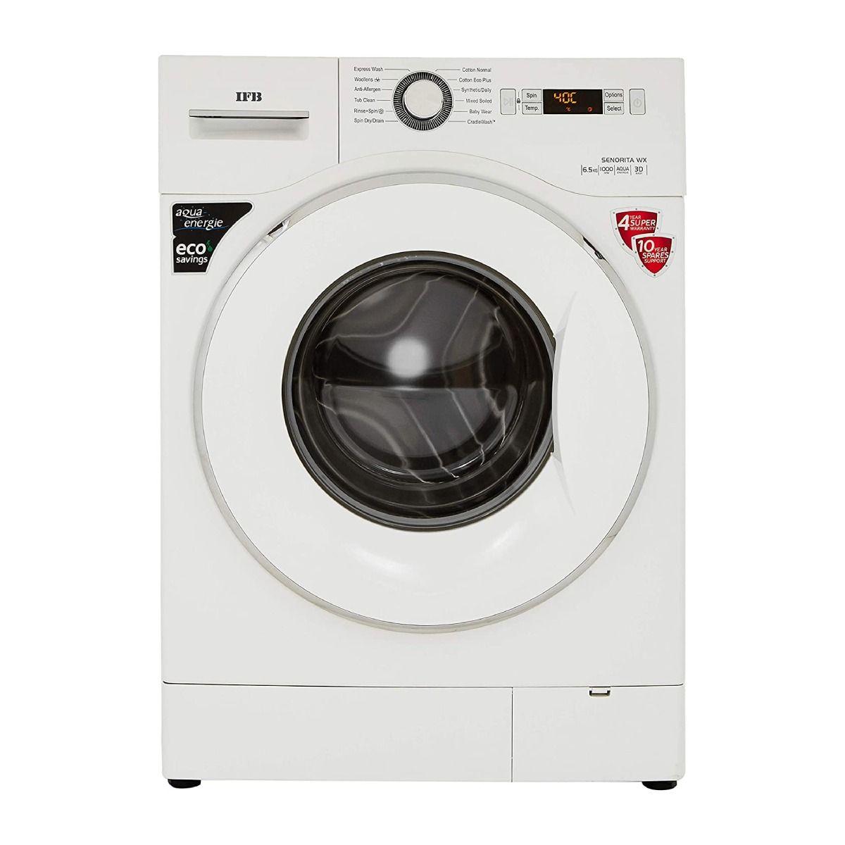 आयएफबी 6.5 kg Fully-Automatic Front Loading Washing Machine Silver (Senorita Aqua SX)