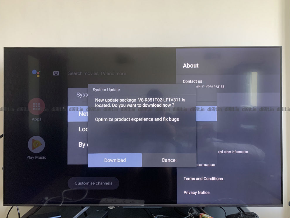 TCL issued an update to fix the warm tone issue on the TV.