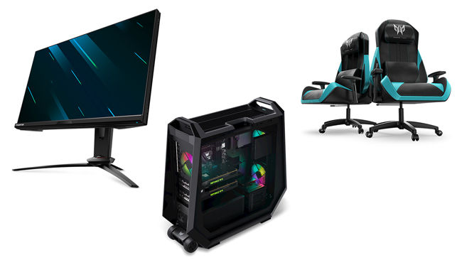 Acer Predator Orion Monitors Gaming Chair Desktops