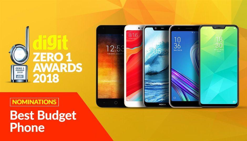 Digit Zero1 Awards 2018: Nomination for Best Budget Smartphone
